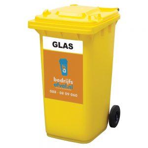 Rolcontainer glas 240 liter