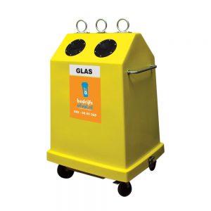 Rolcontainer glas 900 liter