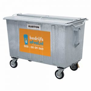 Papier/karton 1100 liter metaal