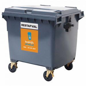 Restafval 1100 liter