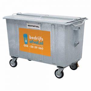 Restafval 1100 liter metaal