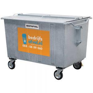 Restafval 1300 liter