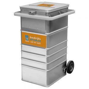 Vertrouwelijke papieren 240 liter aluminium