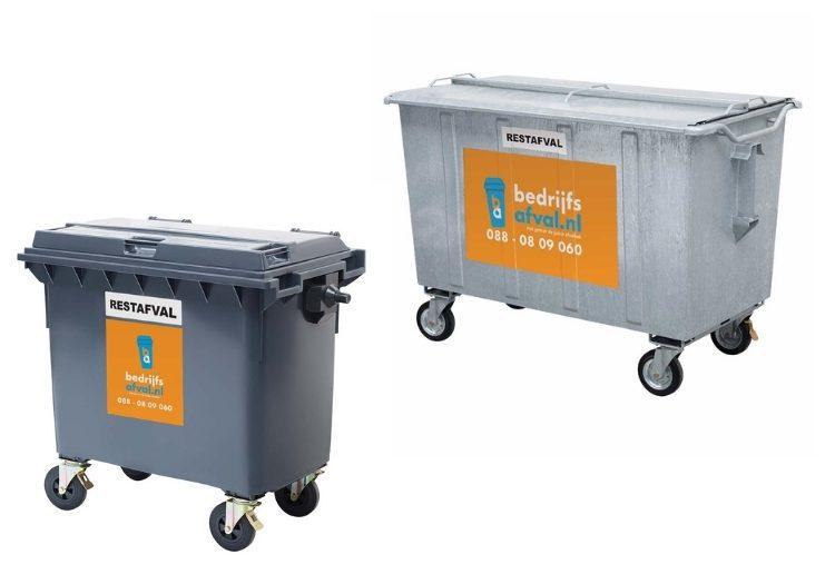 Metalen en kunststof container