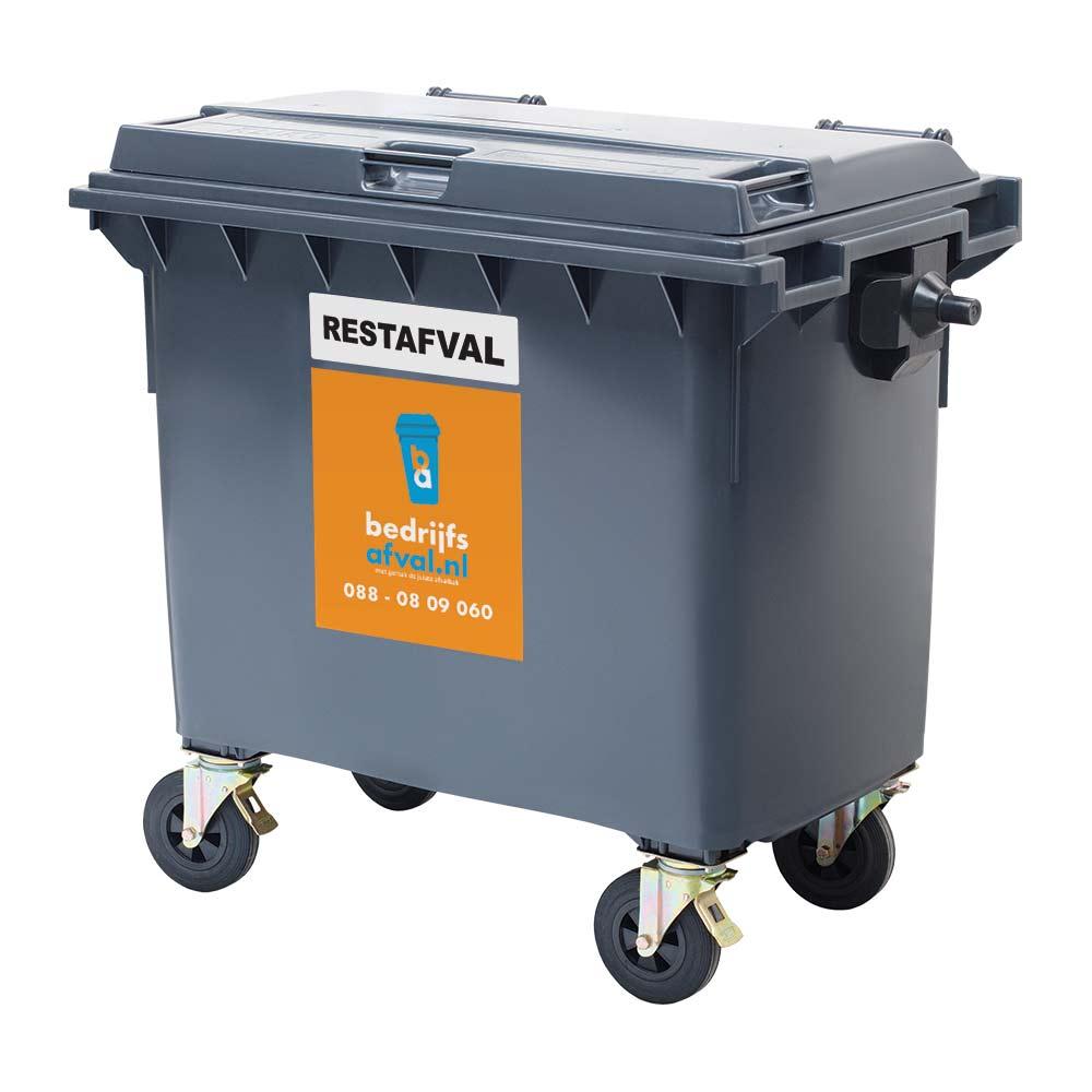 Restafval 660 liter